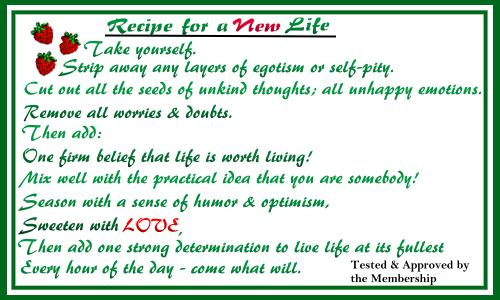 Recipe for a New Life